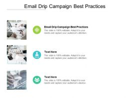 Email Drip Campaign Best Practices Ppt Powerpoint Presentation Layouts Design Cpb