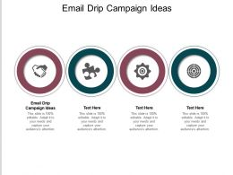Email Drip Campaign Ideas Ppt Powerpoint Presentation Pictures Shapes Cpb
