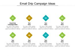 Email Drip Campaign Ideas Ppt Powerpoint Presentation Styles Graphics Cpb