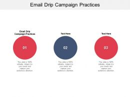 Email Drip Campaign Practices Ppt Powerpoint Presentation Outline Summary Cpb
