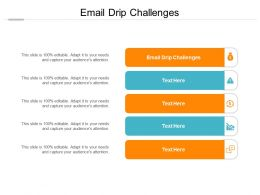 Email Drip Challenges Ppt Powerpoint Presentation Slides Templates Cpb