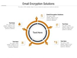 Email Encryption Solutions Ppt Powerpoint Presentation Infographics Structure Cpb