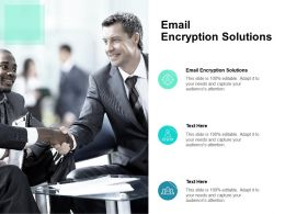 Email Encryption Solutions Ppt Powerpoint Presentation Show Maker Cpb