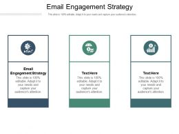 Email Engagement Strategy Ppt Powerpoint Presentation File Display Cpb