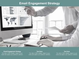 Email Engagement Strategy Ppt Powerpoint Presentation Inspiration Gallery Cpb