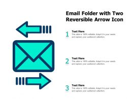 Email Folder With Two Reversible Arrow Icon