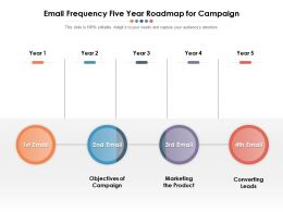 Email Frequency Five Year Roadmap For Campaign