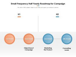 Email Frequency Half Yearly Roadmap For Campaign