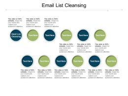 Email List Cleansing Ppt Powerpoint Presentation Styles Slides Cpb