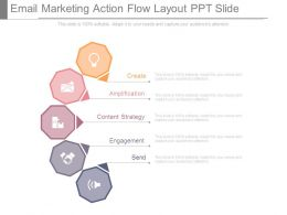 Email Marketing Action Flow Layout Ppt Slide