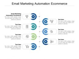 Email Marketing Automation Ecommerce Ppt Powerpoint Presentation Summary Background Designs Cpb
