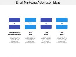 Email Marketing Automation Ideas Ppt Powerpoint Presentation Layouts Portrait Cpb