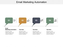 Email Marketing Automation Ppt Powerpoint Presentation Icon Templates Cpb