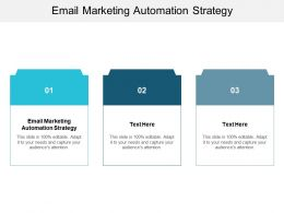 Email Marketing Automation Strategy Ppt Powerpoint Presentation Infographic Template Cpb