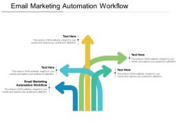 Email Marketing Automation Workflow Ppt Powerpoint Presentation Ideas Cpb