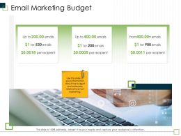 Email Marketing Budget M2968 Ppt Powerpoint Presentation Inspiration Format