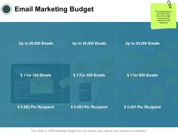 Email Marketing Budget Planning Ppt Powerpoint Presentation Show Background
