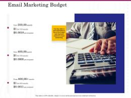 Email Marketing Budget Ppt Powerpoint Presentation Gallery Icons