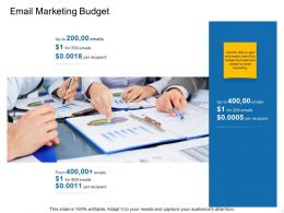 Email Marketing Budget Ppt Powerpoint Presentation Icon Information
