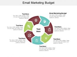 Email Marketing Budget Ppt Powerpoint Presentation Icon Slide Download Cpb