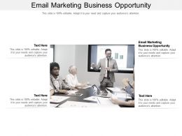 Email Marketing Business Opportunity Ppt Powerpoint Presentation Slides Samples Cpb
