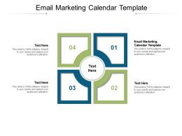 Email Marketing Calendar Template Ppt Powerpoint Presentation Slides Cpb