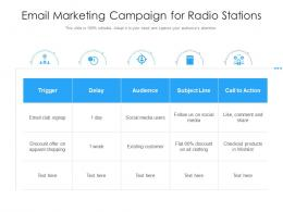Email Marketing Campaign For Radio Stations
