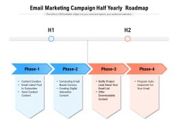 Email Marketing Campaign Half Yearly Roadmap