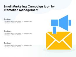 Email Marketing Campaign Icon For Promotion Management