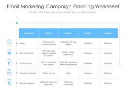 Email Marketing Campaign Planning Worksheet