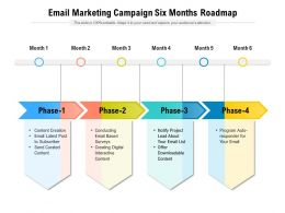 Email Marketing Campaign Six Months Roadmap