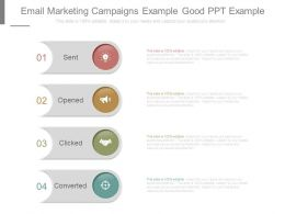 Email Marketing Campaigns Example Good Ppt Example
