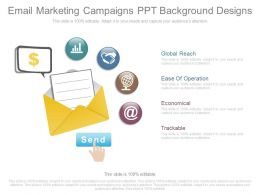 Email Marketing Campaigns Ppt Background Designs