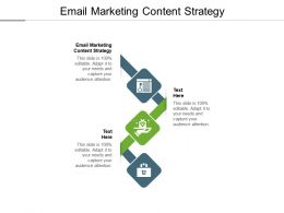 Email Marketing Content Strategy Ppt Powerpoint Presentation Show Visuals Cpb