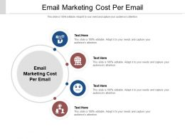 Email Marketing Cost Per Email Ppt Powerpoint Presentation Portfolio Icons Cpb