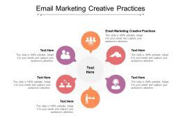 Email Marketing Creative Practices Ppt Powerpoint Presentation Slides Cpb