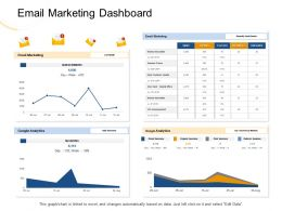 Email Marketing Dashboard Google Analytics Ppt Powerpoint Presentation Show Files
