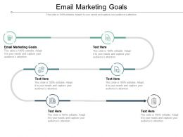 Email Marketing Goals Ppt Powerpoint Presentation Model Graphic Tips Cpb