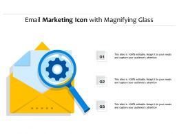 Email Marketing Icon With Magnifying Glass