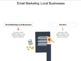Email Marketing Local Businesses Ppt Powerpoint Presentation Infographics Rules Cpb