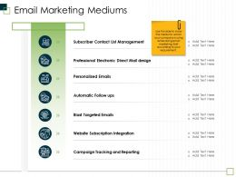 Email Marketing Mediums Blast Email Ppt Powerpoint Presentation Show Files