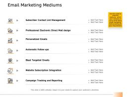 Email Marketing Mediums Ppt Powerpoint Presentation Styles Rules