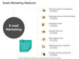 Email Marketing Mediums Subscription Ppt Powerpoint Presentation Icon Styles