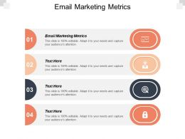 Email Marketing Metrics Ppt Powerpoint Presentation Gallery Example File Cpb