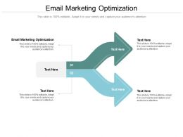 Email Marketing Optimization Ppt Powerpoint Presentation Professional Skills Cpb