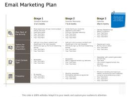 Email Marketing Plan Frequency Ppt Powerpoint Presentation Portfolio Background
