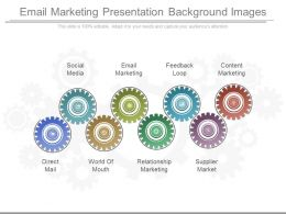 Email Marketing Presentation Background Images