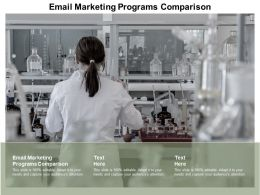 Email Marketing Programs Comparison Ppt Powerpoint Presentation Show Guidelines Cpb