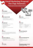 Email Marketing Proposal One Page Summary Presentation Report Infographic PPT PDF Document