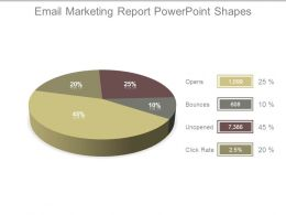 Email Marketing Report Powerpoint Shapes